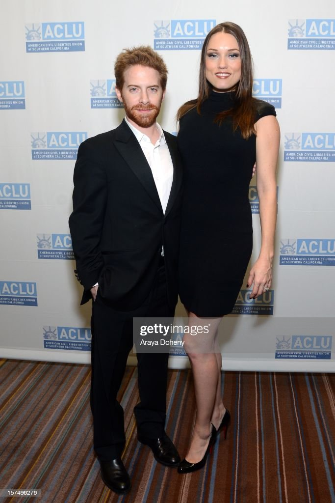 Seth Green and Clare Grant attend the ACLU of Southern California's 2012 Bill of Rights Dinner at the Beverly Wilshire Four Seasons Hotel on December 3, 2012 in Beverly Hills, California.