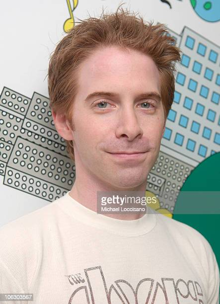 Seth Green during Rihanna and Seth Green visit MTV's 'TRL' June 11 2007 at MTV Studios Times Square in New York City New York United States