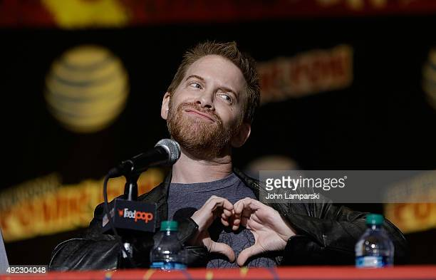 Seth Green from Supermansion speaks at New York ComicCon 2015 day 4 at the Jacob K Javits Convention Center on October 11 2015 in New York City