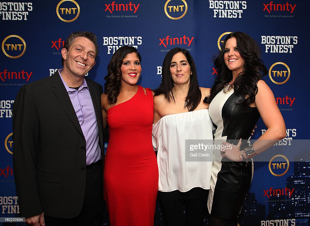 Seth Jarrett, Jenn Penton, Julie Jarrett and Rachel Brill atttend TNT's 'Boston's Finest' premiere screening at The Revere Hotel on February 20, 2013 in Boston, Massachusetts.