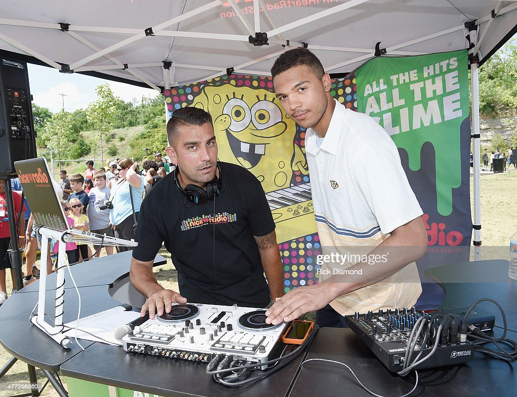 Seth Jones attends Nickelodeon's '100 Things To Do Before High School' And The Nashville Predators Defenseman Seth Jones Get Kids Up And Active At...