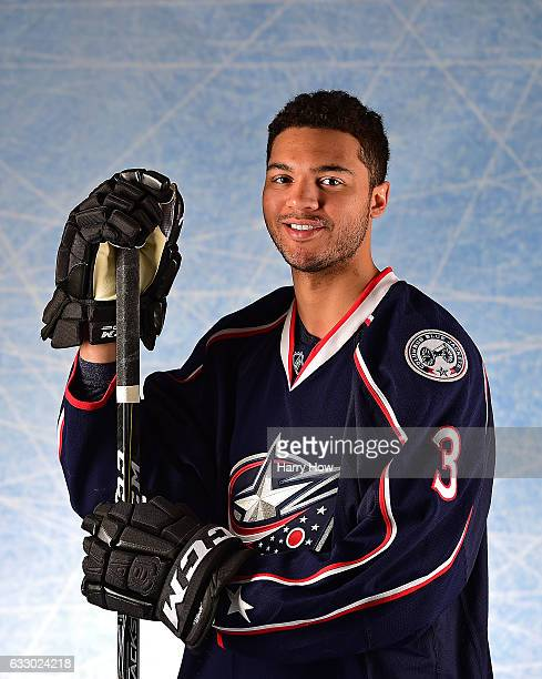 Seth Jones of the Columbus Blue Jackets poses for a portrait prior to the 2017 Honda NHL AllStar Game at Staples Center on January 29 2017 in Los...