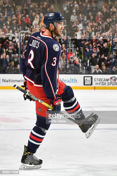 Seth Jones of the Columbus Blue Jackets skates against the Boston Bruins on December 27 2016 at Nationwide Arena in Columbus Ohio