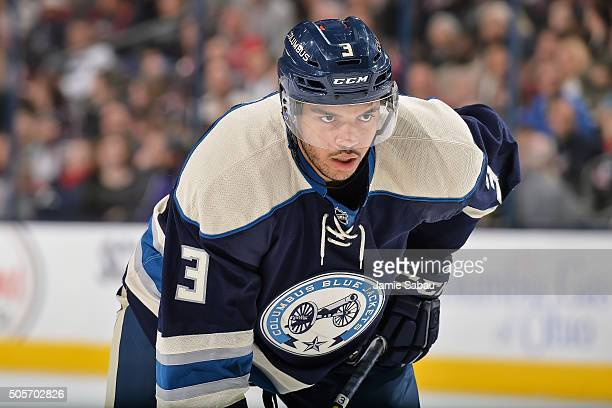 Seth Jones of the Columbus Blue Jackets skates against the Colorado Avalanche on January 16 2016 at Nationwide Arena in Columbus Ohio