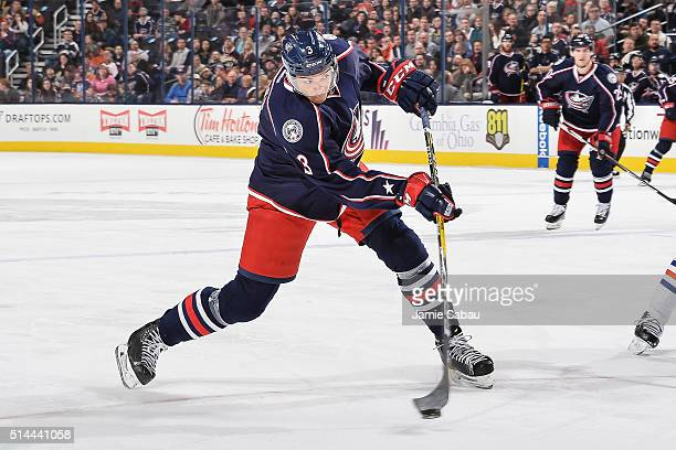 Seth Jones of the Columbus Blue Jackets skates against the Edmonton Oilers on March 4 2016 at Nationwide Arena in Columbus Ohio