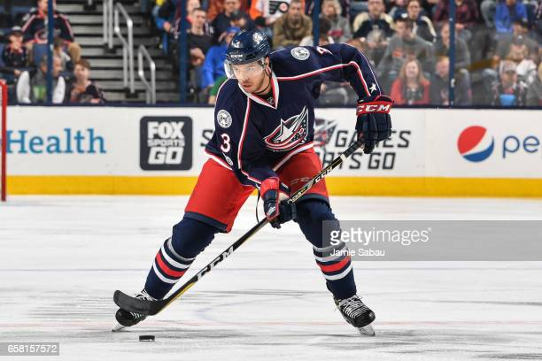 Seth Jones of the Columbus Blue Jackets skates against the Philadelphia Flyers on March 25 2017 at Nationwide Arena in Columbus Ohio