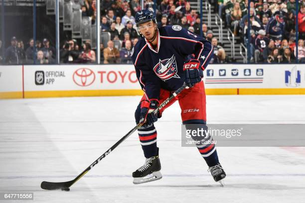 Seth Jones of the Columbus Blue Jackets skates against the Minnesota Wild on March 2 2017 at Nationwide Arena in Columbus Ohio