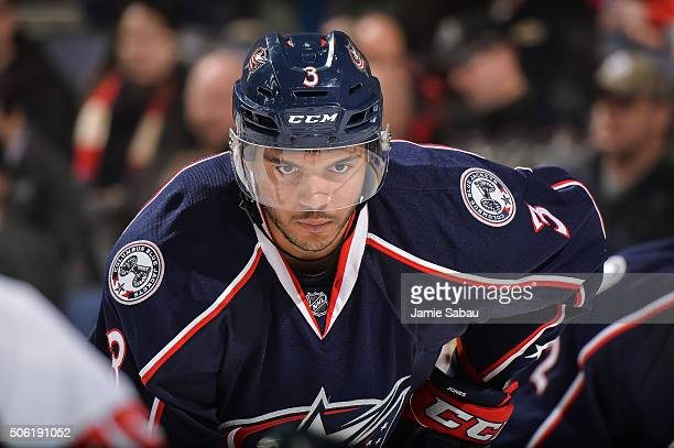 Seth Jones of the Columbus Blue Jackets skates against the Washington Capitals on January 19 2016 at Nationwide Arena in Columbus Ohio