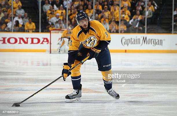 Seth Jones of the Nashville Predators skates against the Chicago Blackhawks in Game Five of the Western Conference Quarterfinals during the 2015 NHL...