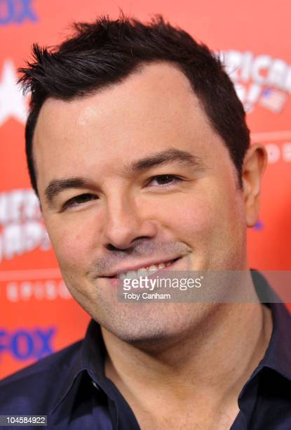 Seth MacFarlane arrives at Fox's 'American Dad' 100th episode party held at The Parlor on September 30 2010 in West Hollywood California