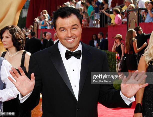Seth MacFarlane arrives at the 61st Primetime Emmy Awards held at the Nokia Theatre on September 20 2009 in Los Angeles California