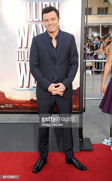 Seth MacFarlane arrives at the Los Angeles premiere of 'A Million Ways To Die In The West' at Regency Village Theatre on May 15 2014 in Westwood...