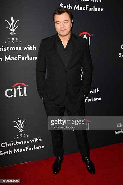 Seth MacFarlane attends The Grove Christmas With Seth MacFarlane at The Grove on November 13 2016 in Los Angeles California