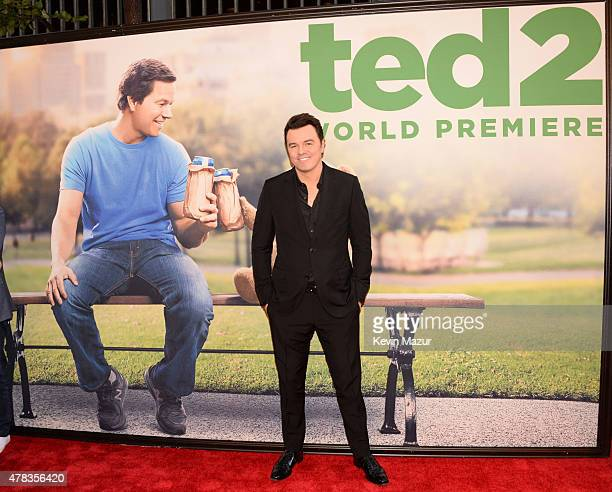 Seth MacFarlane attends the New York Premiere of 'Ted 2' at Ziegfeld Theater on June 24 2015 in New York City