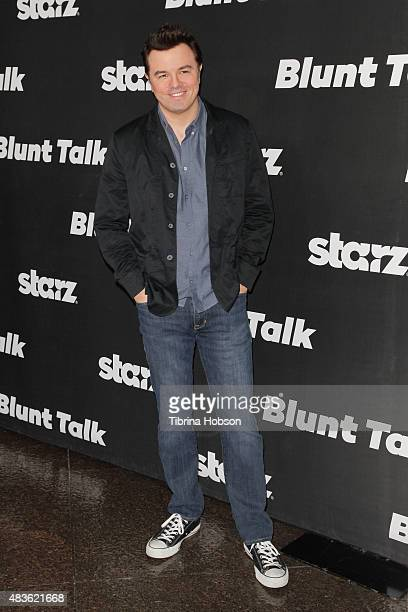Seth MacFarlane attends the premiere of STARZ 'Blunt Talk' at DGA Theater on August 10 2015 in Los Angeles California