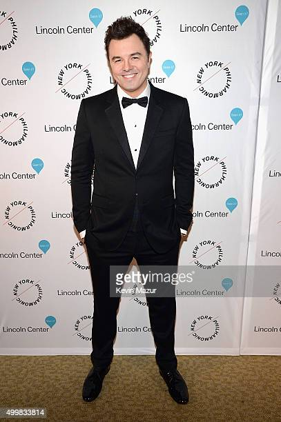 Seth MacFarlane attends the Sinatra Gala with New York Philharmonic at Lincoln Center's David Geffen Hall on December 3 2015 in New York City