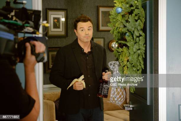 Seth MacFarlane checks in from the green room with James Corden during 'The Late Late Show with James Corden' Wednesday December 6 2017 On The CBS...