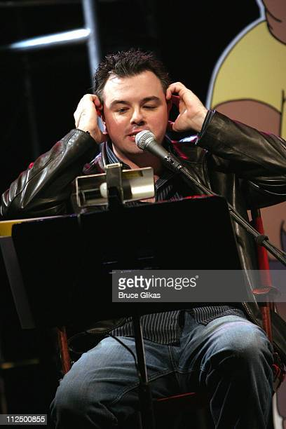 Seth MacFarlane during Just for Laughs Presents 'Family Guy Live' at Town Hall in New York City New York United States