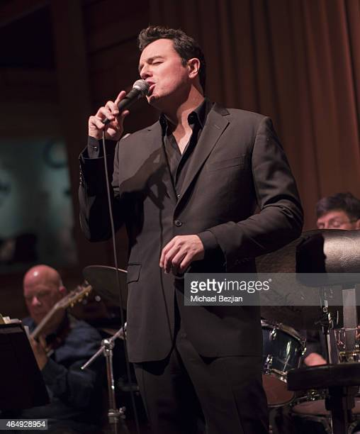 Seth MacFarlane performs at Vibrato Grill Jazz on March 1 2015 in Los Angeles California