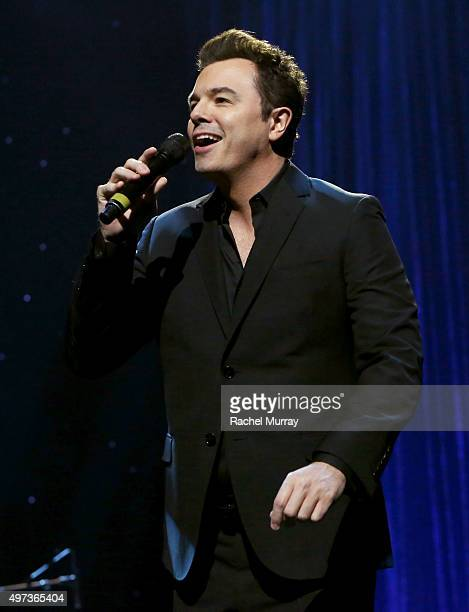 Seth MacFarlane performs onstage during the Thelonious Monk Institute International Jazz Vocals Competition 2015 at Dolby Theatre on November 15 2015...