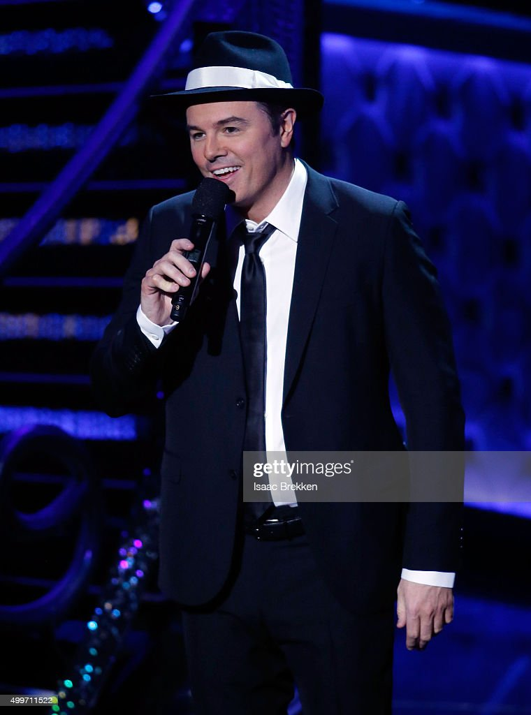Seth MacFarlane performs while hosting 'Sinatra 100: An All-Star GRAMMY Concert' celebrating the late Frank Sinatra's 100th birthday at the Encore Theater at Wynn Las Vegas on December 2, 2015 in Las Vegas, Nevada. The show will air on CBS on December 6.