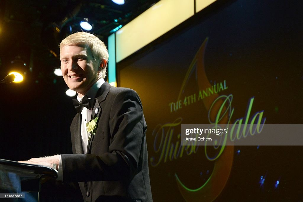 Seth Maxwell speaks at The Thirst Project 4th annual gala and performance at The Beverly Hilton Hotel on June 25, 2013 in Beverly Hills, California.