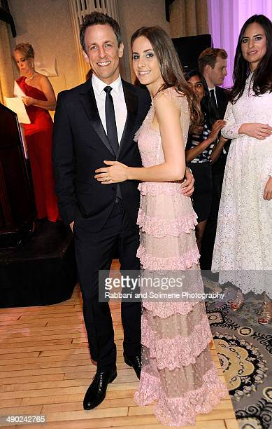 Seth Meyer and Alexi Ashe Meyer attend the 7th Annual Society Of Memorial Sloan Kettering Spring Ball at The Waldorf Astoria on May 13 2014 in New...
