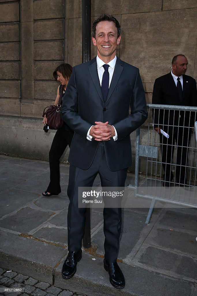 Seth Meyer attends the Valentino show as part of the Paris Fashion Week Menswear Spring/Summer 2015>> on June 25, 2014 in Paris, France.