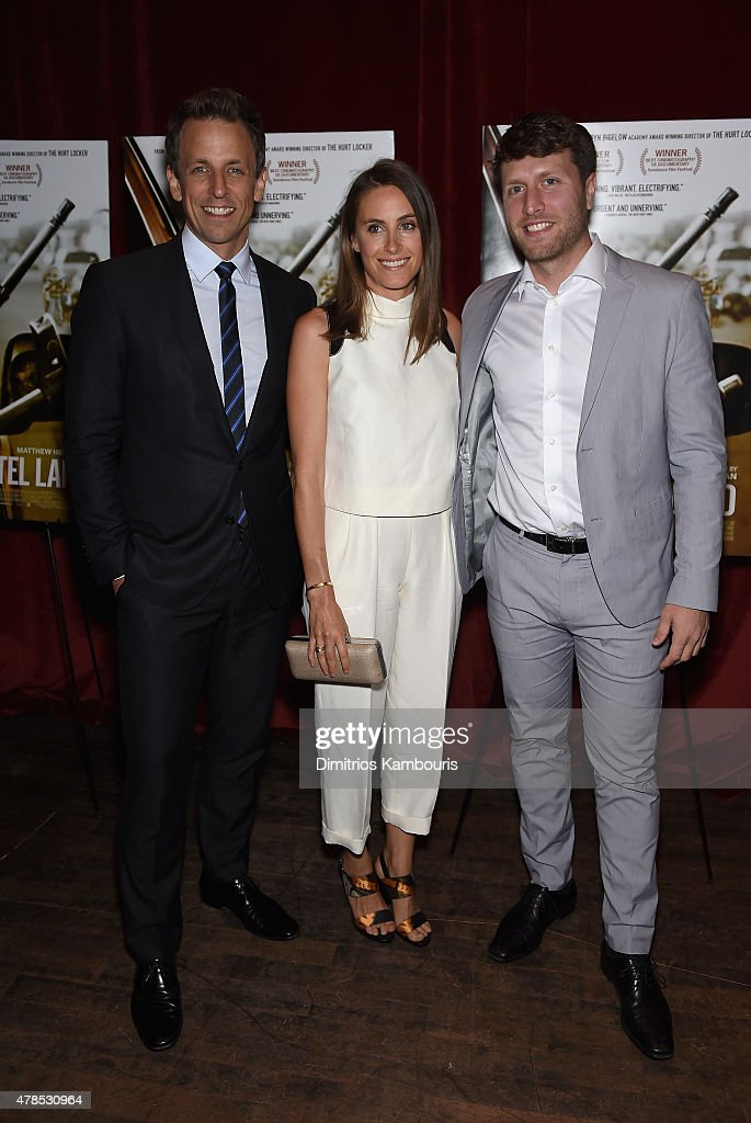 Seth Meyers, Alexi Ashe and Matthew Heineman attend Seth Meyers with the Orchard and the Cinema Society Host a Special Screening of 'Cartel Land' at Tribeca Grand Hotel on June 25, 2015 in New York City.