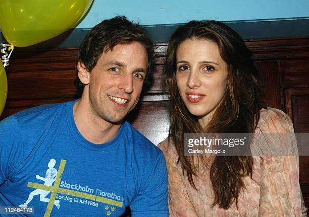 Seth Meyers and Alexandra Kerry during Rashida Jones' 29th Birthday Party at NA at NA in New York City New York United States