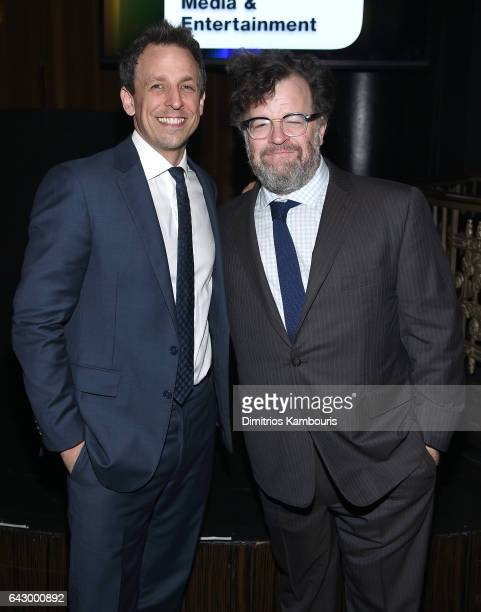 Seth Meyers and Kenneth Lonergan attend 69th Writers Guild Awards New York Ceremony at Edison Ballroom on February 19 2017 in New York City