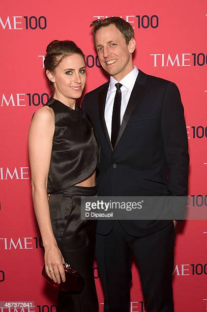 Seth Meyers and wife Alexi Ashe attend the 2014 Time 100 Gala at Frederick P Rose Hall Jazz at Lincoln Center on April 29 2014 in New York City