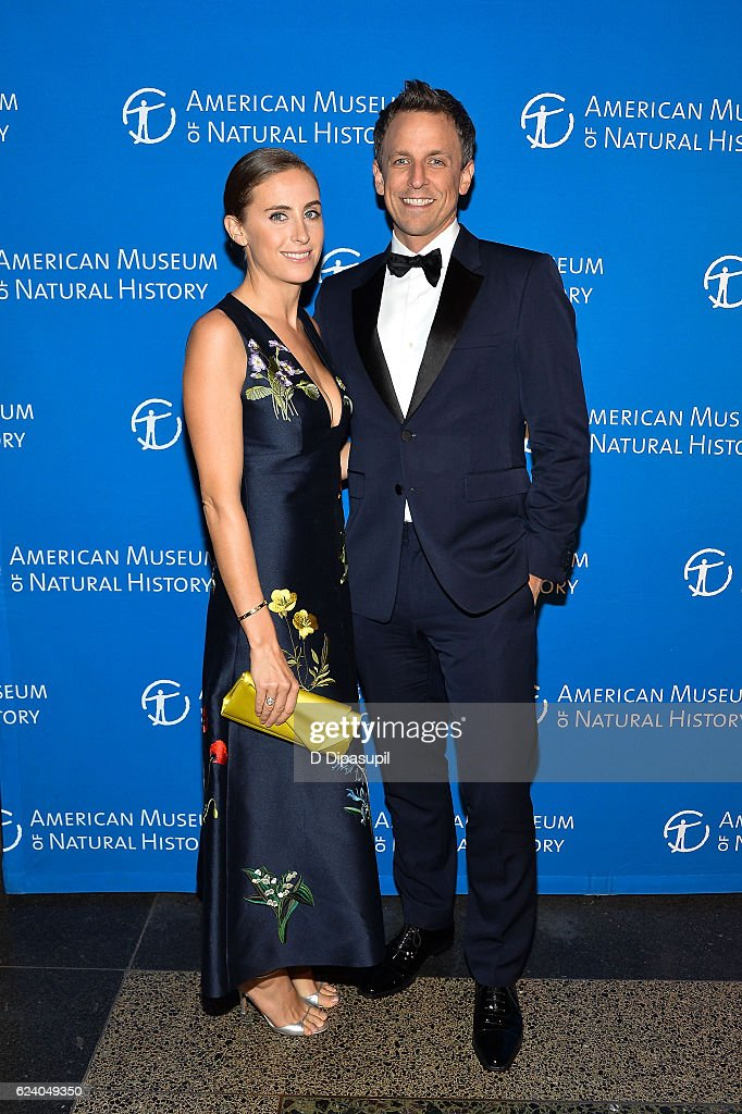 Seth Meyers (R) and wife Alexi Ashe attend the 2016 American Museum of Natural History Museum Gala at the American Museum of Natural History on November 17, 2016 in New York City.