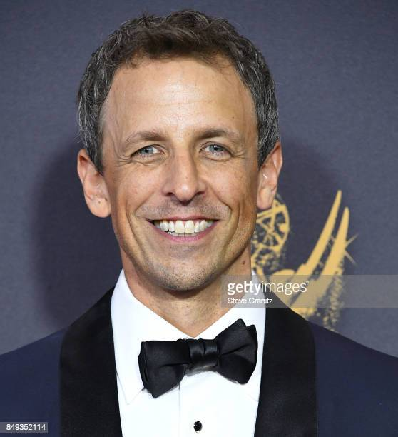 Seth Meyers arrives at the 69th Annual Primetime Emmy Awards at Microsoft Theater on September 17 2017 in Los Angeles California
