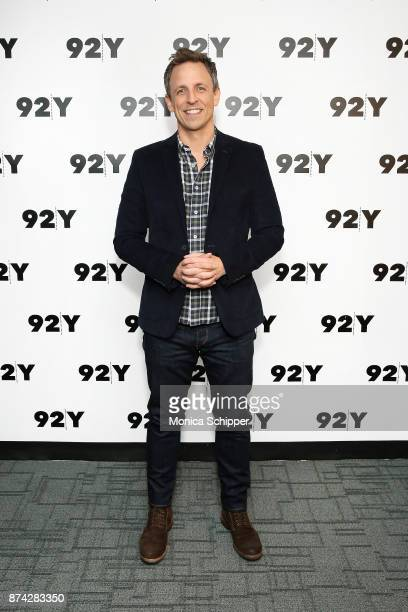 Seth Meyers attends 92Y Presents Get Out Jordan Peele In Conversation With Seth Meyers at 92nd Street Y on November 14 2017 in New York City