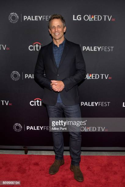 Seth Meyers attends 'Late Night With Seth Meyers' during PaleyFest NY 2017 at The Paley Center for Media on October 10 2017 in New York City