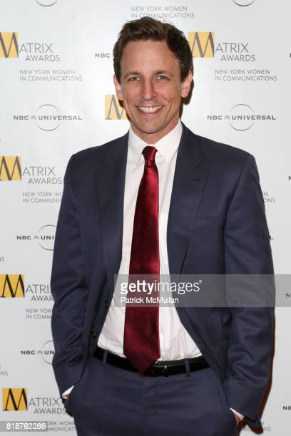 Seth Meyers attends New York WOMEN IN COMMUNICATIONS Presents The 2010 MATRIX AWARDS at Waldorf Astoria on April 19 2010 in New York City