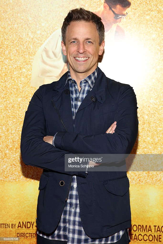 <a gi-track='captionPersonalityLinkClicked' href=/galleries/search?phrase=Seth+Meyers&family=editorial&specificpeople=618859 ng-click='$event.stopPropagation()'>Seth Meyers</a> attends 'Popstar: Never Stop Never Stopping' New York Premiere at AMC Loews Lincoln Square 13 theater on May 24, 2016 in New York City.