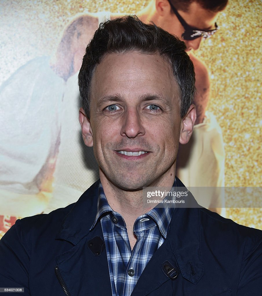 <a gi-track='captionPersonalityLinkClicked' href=/galleries/search?phrase=Seth+Meyers&family=editorial&specificpeople=618859 ng-click='$event.stopPropagation()'>Seth Meyers</a> attends 'Popstar: Never Stop Never Stopping' premiere at AMC Loews Lincoln Square 13 theater on May 24, 2016 in New York City.