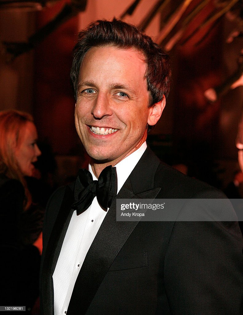 <a gi-track='captionPersonalityLinkClicked' href=/galleries/search?phrase=Seth+Meyers&family=editorial&specificpeople=618859 ng-click='$event.stopPropagation()'>Seth Meyers</a> attends the 2011 American Museum of Natural History gala at the American Museum of Natural History on November 10, 2011 in New York City.