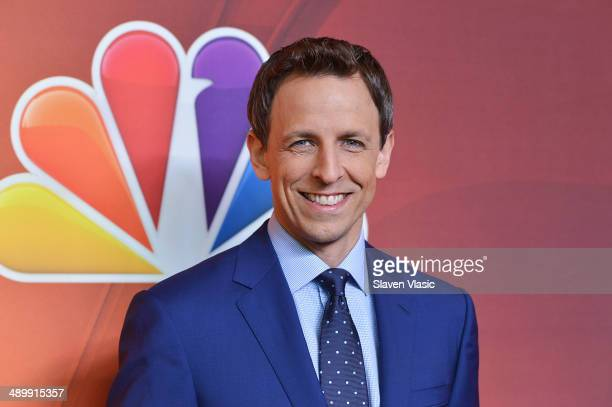 Seth Meyers attends the 2014 NBC Upfront Presentation at The Jacob K Javits Convention Center on May 12 2014 in New York City