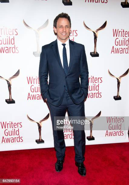 Seth Meyers attends the 69th Annual Writers Guild Awards New York ceremony at Edison Ballroom on February 19 2017 in New York City