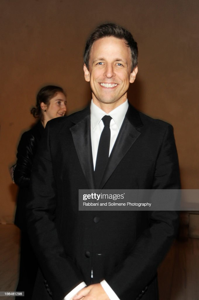 <a gi-track='captionPersonalityLinkClicked' href=/galleries/search?phrase=Seth+Meyers&family=editorial&specificpeople=618859 ng-click='$event.stopPropagation()'>Seth Meyers</a> attends the cocktail party prior to the 2012 Apollo Circle Benefit at the Metropolitan Museum of Art on November 15, 2012 in New York City.
