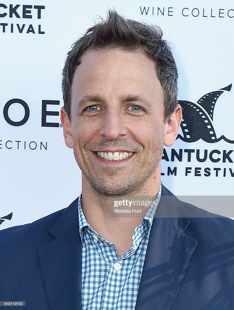 <a gi-track='captionPersonalityLinkClicked' href=/galleries/search?phrase=Seth+Meyers&family=editorial&specificpeople=618859 ng-click='$event.stopPropagation()'>Seth Meyers</a> attends the Screenwriters Tribute at the 2016 Nantucket Film Festival Day 4 on June 25, 2016 in Nantucket, Massachusetts.