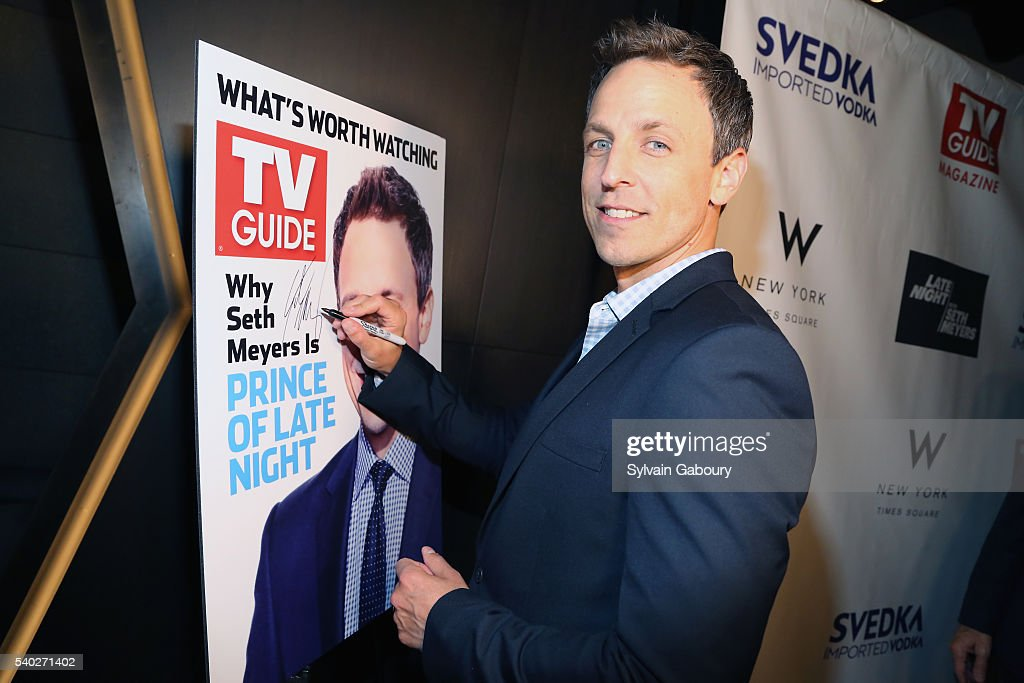 Seth Meyers Attends TV Guide Magazine Celebrates New Cover Star At The Living Room