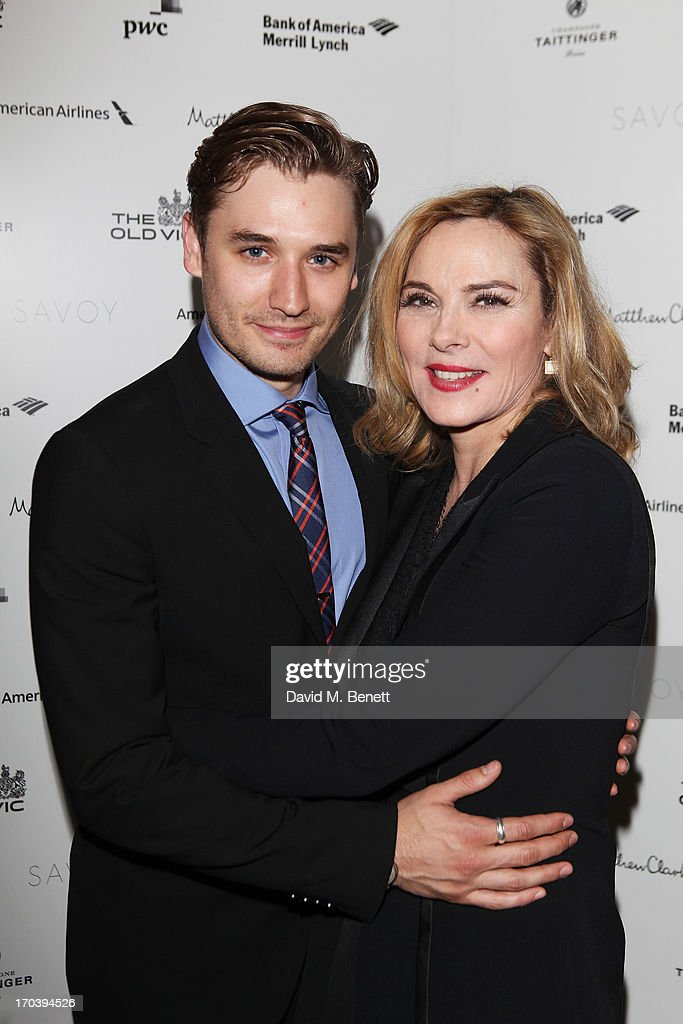 Seth Numrich and Kim Cattrall attend an after party following the press night performance of The Old Vic's 'Sweet Bird of Youth' at The Savoy Hotel on June 12, 2013 in London, England.
