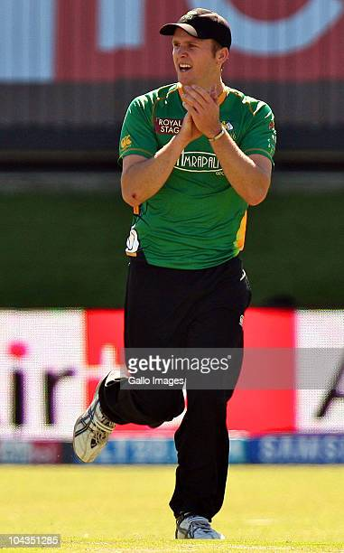 Seth Rance during the Airtel Champions League Twenty20 match between Wayamba Elevens and Central Stags at Axxess DSL St Georges Park on September 22...
