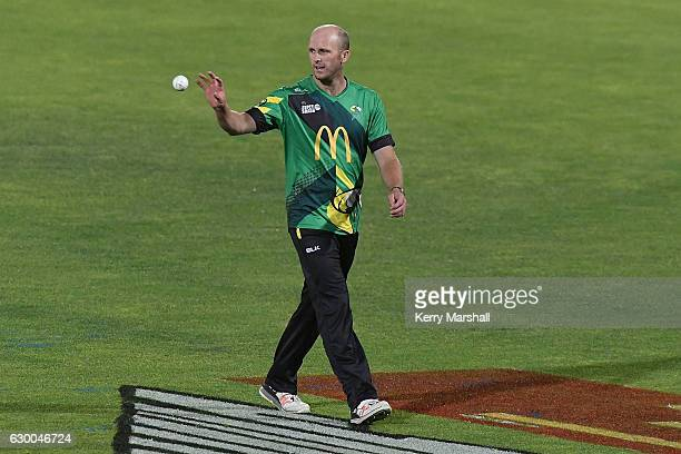 Seth Rance of the Central Stags during the McDonalds Super Smash T20 match between Central Stags and Otago Volts on December 16 2016 in Napier New...