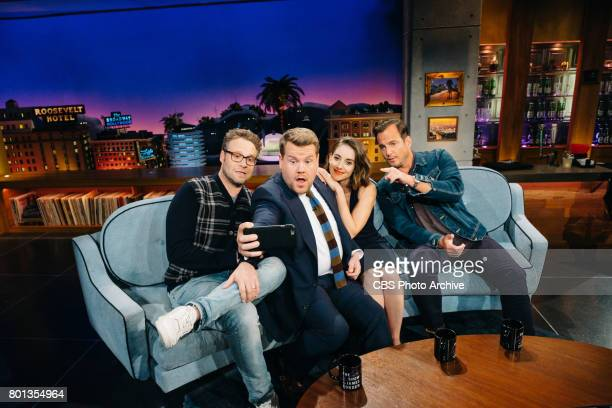 Seth Rogen Alison Brie and Will Arnett chat with James Corden during 'The Late Late Show with James Corden' Wednesday June 21 2017 On The CBS...
