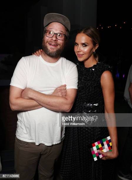 Seth Rogen and Arielle Kebbel at Entertainment Weekly's annual ComicCon party in celebration of ComicCon 2017 at Float at Hard Rock Hotel San Diego...